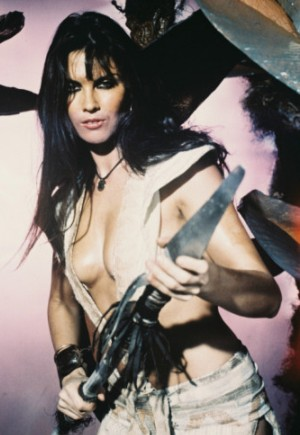 "Caroline Munro as Princess Dia in ""At the Earth's Core"""