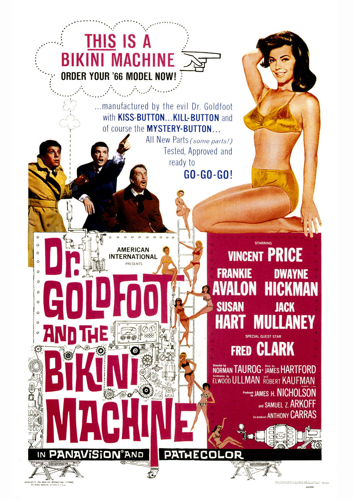Movie Poster for &quotDr. Goldfoot and the Bikini Machine""