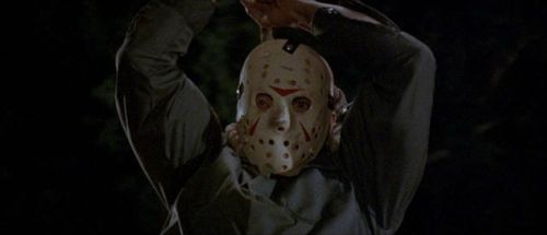 "Richard Brooker as Jason Voorhees in ""Friday the 13th Part III"""