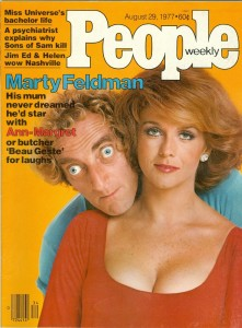 "Marty Feldman and Ann-Margret on the cover of ""People"""