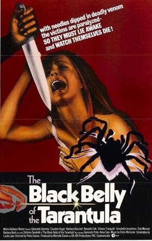 Movie Poster for &quotThe Black Belly of the Tarantula""