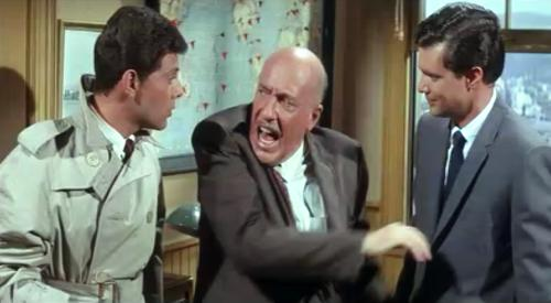 "Frankie Avalon, Fred Clark, and Dwayne Hickman in ""Dr. Goldfoot and the Bikini Machine"""
