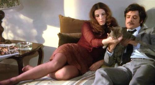 "Stefania Sandrelli and Giancarlo Giannini in ""The Black Belly of the Tarantula"""