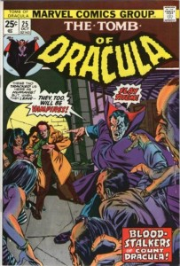 Hannibal King as he first appeared in Tomb of Dracula # 25 (1974)